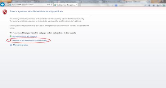 Certificate Error Navigation Blocked