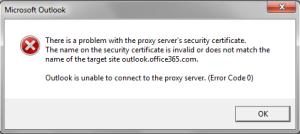 Outlook-proxy-server-error